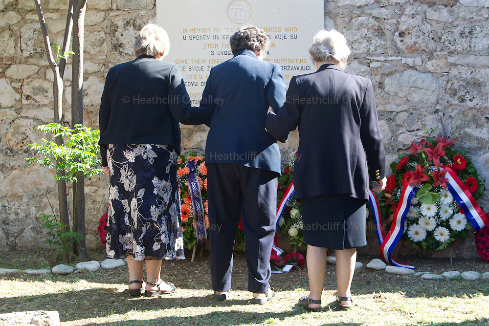 Mcc0031516 . Daily Telegraph..The memorial service at Vis cemetary , Croatia ... A reunion of British WW2 Veterans, probably for the last time. They are some of the last survivors of an Allied combined garrison of Royal Navy, Royal Marine Commandos, Army and Royal Air Force personnel who took over the Island in 1943 and held it until the end of the War. From here they harried Axis Forces in what was Yugoslavia, providing supply drops to the Partisans and, at one point, refuge for Marshall Tito when he was nearly captured by German Forces ...18 May 2011 Vis, Croatia