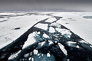 Melting pack ice, Svalbard, Norway