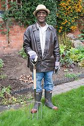 Portrait of an older man in the garden,