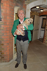 MATTHEW HORTON and Dorris the dog at a party to celebrate the publication of English Houses by Ben Pentreath held at the Art Worker's Guild, 6 Queen Square, London on 28th September 2016.