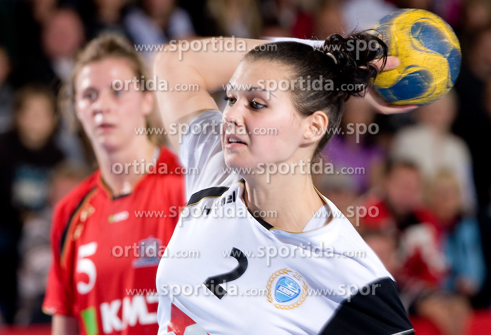 Szandra Zacsik of Krim at handball match of Round 2 of Champions League between RK Krim Mercator and Aalborg DH, on October 31, 2009, in Arena Kodeljevo, Ljubljana, Slovenia.  Krim won 30:23. (Photo by Vid Ponikvar / Sportida)