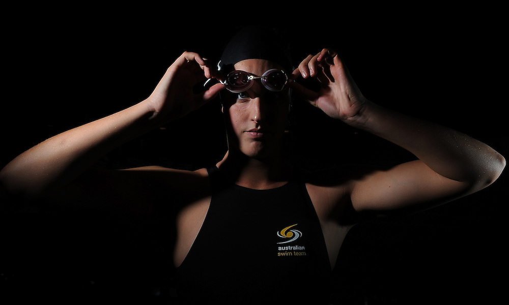 GOLD COAST, AUSTRALIA - APRIL 13:  Australian swimmer Brittany Elmslie poses during a portrait session at Sleeman Sports Complex on April 13, 2012 in Brisbane, Australia.  (Photo by Matt Roberts/Getty Images) *** Local Caption *** Brittany Elmslie
