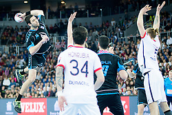 Luka Sebetic #14 of PPD Zagreb during handball match between PPD Zagreb (CRO) and Paris Saint-Germain (FRA) in 11th Round of Group Phase of EHF Champions League 2015/16, on February 10, 2016 in Arena Zagreb, Zagreb, Croatia. Photo by Urban Urbanc / Sportida