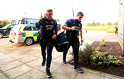 Ian Madigan of Bristol Rugby and Jason Harris-Wright of Bristol Rugby arrive at Castle Park for the fixture against Doncaster Knights - Mandatory by-line: Robbie Stephenson/JMP - 02/12/2017 - RUGBY - Castle Park - Doncaster, England - Doncaster Knights v Bristol Rugby - Greene King IPA Championship