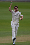 Chris Woakes(Warwickshire County Cricket Club) celebrates taking the wicket of Paul Collingwood  (Durham County Cricket Club) during the LV County Championship Div 1 match between Durham County Cricket Club and Warwickshire County Cricket Club at the Emirates Durham ICG Ground, Chester-le-Street, United Kingdom on 14 July 2015. Photo by George Ledger.