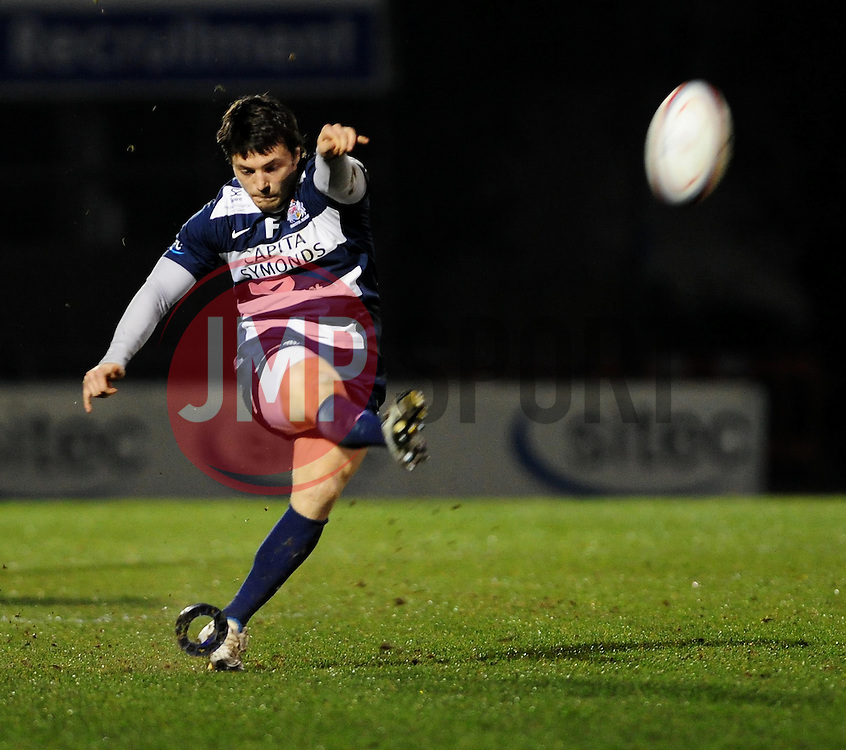 Bristol Fly-Half (#10) Tristan Roberts - Photo mandatory by-line: Dougie Allward/JMP - Tel: Mobile: 07966 386802 08/03/2013 - SPORT - RUGBY - Memorial Stadium - Bristol. Bristol v Nottingham - RFU Championship.