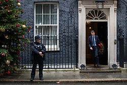 © Licensed to London News Pictures. 17/12/2019. London, UK. Secretary of State for Education Gavin Williamson leaving Downing Street after attending a Cabinet meeting this morning. Photo credit : Tom Nicholson/LNP