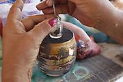 Beberibe_CE, Brasil.<br /> <br /> Artesanato de areia colorida produzido na praia de Morro Branco em Beberibe, Ceara.<br /> <br /> Crafts produced colored sand on the beach in Morro Branco Beberibe, Ceara.<br /> <br /> Foto: LEO DRUMOND / NITRO