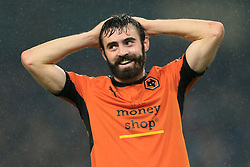 24th October 2017 - Carabao Cup (4th Round) - Manchester City v Wolverhampton Wanderers - Jack Price of Wolves looks dejected - Photo: Simon Stacpoole / Offside.