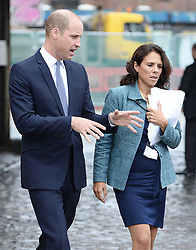 September 12, 2018 - Bristol, London, United Kingdom - Image licensed to i-Images Picture Agency. 11/09/2018. Bristol, United Kingdom. Prince William, Duke Of Cambridge with Aida Cable, Head of Young Peoples Programmes at the Royal Foundation at the launch of Mental Health At Work at The Engine Shed  in Bristol, United Kingdom. (Credit Image: © Pool/i-Images via ZUMA Press)