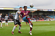 Scunthorpe United forward Ivan Toney (9) does overhead kick towards goal during the EFL Sky Bet League 1 match between Scunthorpe United and Rochdale at Glanford Park, Scunthorpe, England on 24 March 2018. Picture by Ian Lyall.