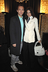 VISCOUNT MACMILLAN and ASTRID MUNOZ in the Moet & Chandon Room at British Fashion Week at the Natural History Museum on 15th February 2007.<br /><br />NON EXCLUSIVE - WORLD RIGHTS