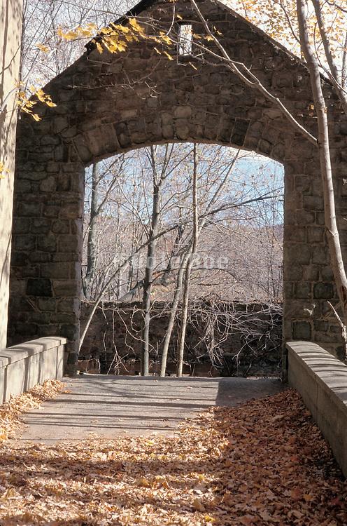 bridge and entrance port to a ruin