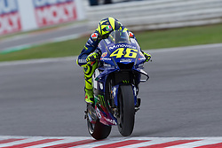 September 7, 2018 - Rimini, RN, Italy - Valentino Rossi of Movistar Yamaha MotoGP during the free practice 2 of the OCTO Grand Prix of San Marino e della Riviera di Rimini, at Misano World Circuit Marco Simoncelli, on September 07, 2018 in Misano Adriatico, Italy  (Credit Image: © Danilo Di Giovanni/NurPhoto/ZUMA Press)