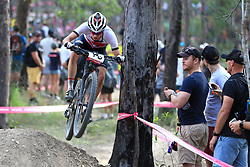 England's Frazer Clacherty competes in the Men's Cross-country at the Nerang Mountain Bike Trails during day eight of the 2018 Commonwealth Games in the Gold Coast, Australia.