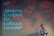 Mark Serrwotka, General Secretary of the PCS union - Jeremy Corbyn holds a campaign meeting as part of his Labour Party leadership challenge - with support of Ken Livingstone at the Camden Town Hall, London, UK 03 Aug 2015