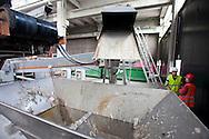 San Rocco, Milano sud : Impianto di depurazione delle acque reflue. zona della grigliatura. San Rocco Waste Water Treatment plant