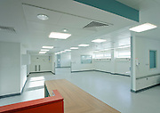 open plan and empty ward in hospital