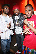 l to r: DJ J Rocc, Talib Kweli and Mos Def at The Black Star Concert presented by BlackSmith and Live N Direct held at The Nokia Theater in New York City on May 30, 2009