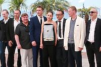 Mikhail Krichman, Alexandre Rodnianski, Roman Madyanov, Vladimir Vdovichenkov, Yelena Lyadova, Andrey Zvyagintsev, Aleksey Serebryakov and Serguei Melkoumov at the photo call for the film Leviathan at the 67th Cannes Film Festival, Friday 23rd May 2014, Cannes, France.