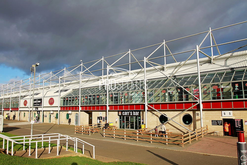 A stadium shot from the outside before the EFL Sky Bet League 1 match between Northampton Town and Bury at Sixfields Stadium, Northampton, England on 25 November 2017. Photo by Nigel Cole.