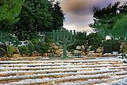 Israel, Jerusalem, the Menorah a Jewish symbol at the Knesset