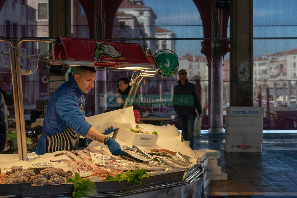 General views of a fish market in Venice. From a series of travel photos in Italy. Photo date: Tuesday, February 12, 2019. Photo credit should read: Richard Gray/EMPICS