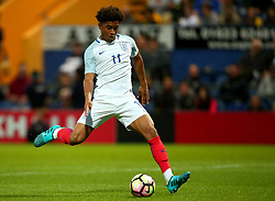 Reiss Nelson of England scores a goal to make it 2-1 - Mandatory by-line: Robbie Stephenson/JMP - 05/09/2017 - FOOTBALL - One Call Stadium - Mansfield, United Kingdom - England U19 v Germany U19 - International Friendly