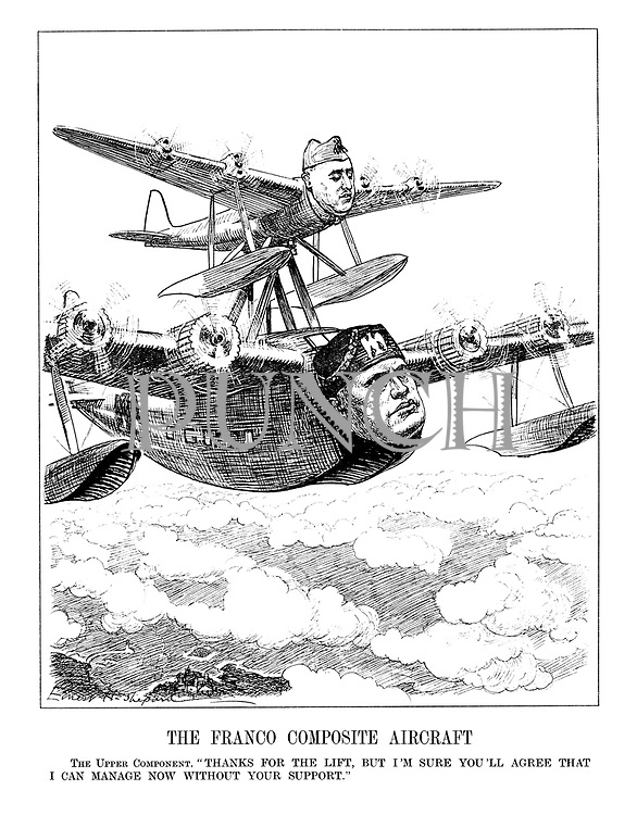 """The Franco Composite Aircraft. The Upper Component. """"Thanks for the lift,but I'm sure you'll agree that I can manage now without your suppport."""""""