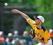 OFallon pitcher Mike Larson throws early in the game - he pitched the entire game. OFallon defeated Edwardsville in a baseball sectional playoff game at Edwardsville High School in Edwardsville, IL on Wednesday June 9, 2021. <br /> Tim Vizer/Special to STLhighschoolsports.com.