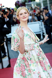 """Nadine Leopold arrives to the premiere of """" LES MISERABLES """" during the 2019 Cannes Film Festival on May 15, 2019 at Palais des Festivals. 15 May 2019 Pictured: Elle Fanning. Photo credit: Lyvans Boolaky/imageSPACE / MEGA TheMegaAgency.com +1 888 505 6342"""