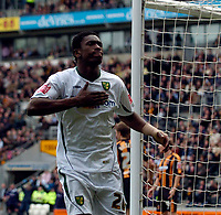 Photo: Jed Wee/Sportsbeat Images.<br /> Hull City v Norwich City. Coca Cola Championship. 06/04/2007.<br /> <br /> Norwich's Dickson Etuhu celebrates after scoring.
