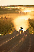 Canada. Northwest Territory. Truck on Dempster Highway near Fort Mcpherson.