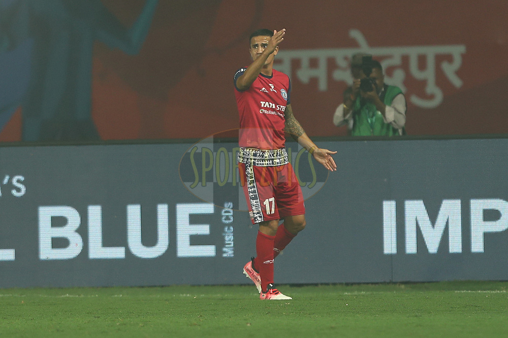 Tim Cahill of Jamshedpur FC during match 25 of the Hero Indian Super League 2018 ( ISL ) between Jamshedpur FC and FC Goa held at JRD Tata Sports Complex, Jamshedpur, India on the 1st November  2018<br /> <br /> Photo by: Ron Gaunt /SPORTZPICS for ISL