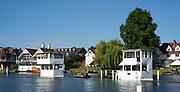 Henley-On-Thames, Berkshire, UK.,Wednesday, 11.08.21,   2021 Henley Royal Regatta,  [ Mandatory Credit © Peter Spurrier/Intersport Images], Left, Finish Line Hut,