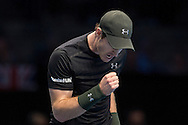 Andy Murray of Great Britain fist clench during day four of the Barclays ATP World Tour Finals at the O2 Arena, London, United Kingdom on 16 November 2016. Photo by Martin Cole.