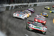 January 24-27, 2019. IMSA Weathertech Series ROLEX Daytona 24. Start of the 57th Daytona 24 #67 Ford Chip Ganassi Racing Ford GT, GTLM: Ryan Briscoe, Richard Westbrook, Scott Dixon