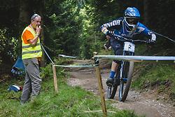 Ziga Pandur of Unior Tools Team Slovenia during downhill competition Sorca 2015 at Smucarski center Soriska Planina, Slovenia. Photo by Grega Valancic / Sportida