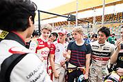 Marcus ARMSTRONG, ITA, SJM Theodore Racing by PREMA Dallara-Mercedes , Mick SCHUMACHER, GER, SJM Theodore Racing by PREMA Dallara-Mercedes, Robert SHVARTZMAN, RUS, SJM Theodore Racing by PREMA Dallara-Mercedes <br /> <br /> 65th Macau Grand Prix. 14-18.11.2018.<br /> Suncity Group Formula 3 Macau Grand Prix - FIA F3 World Cup<br /> Macau Copyright Free Image for editorial use only