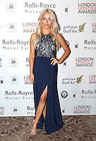 Chloe Paige, London Lifestyle Awards, Lancaster London Hotel UK, 03 October 2016, Photo by Richard Goldschmidt