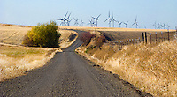 Electric Power windmills in the foothills of the Blue Mountains, Columbia County, Washington, USA