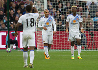 Football - 2016 / 2017 Premier League - West Ham United vs. Sunderland<br /> <br /> Dissent in the ranks as Jermain Defoe and Didier N'Dong of Sunderland argues at The London Stadium.<br /> <br /> COLORSPORT/DANIEL BEARHAM