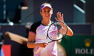 Elise Mertens of Belgium celebrates during the third round of the Mutua Madrid Open 2021, Masters 1000 tennis tournament on May 4, 2021 at La Caja Magica in Madrid, Spain - Photo Rob Prange / Spain ProSportsImages / DPPI / ProSportsImages / DPPI