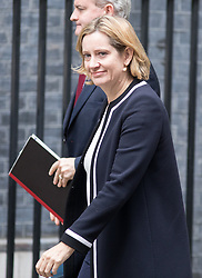 © Licensed to London News Pictures. 26/09/2017. London, UK. Home Secretary Amber Rudd in Downing Street. Photo credit : Tom Nicholson/LNP