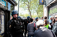 Police riot closing the streets to tourists.