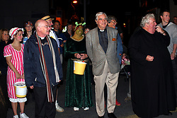 "© Licensed to London News Pictures. 01/02/2012. Uckfield, UK.  Service at Uckfield Carnival and Bonfire Soc. Canon Bill Peters of Uckfield, the only chaplain who served in the Second World War still working, is celebrating his 70th year in the church as he approaches his 93rd birthday this year. It has been 67 years since he signed up with the Royal Army Chaplains Department. Canon Peters, who lives in Uckfield is a widower of 10 years and a grand-father of two, He claims he still has a lot left to achieve and said: ""If anybody wants to get married, and the parish is happy, then I do them. I do more weddings than funerals. I have been a priest for 70 years this year and I have spent all that time in Sussex, except when I was in the army and canon of a cathedral."" Photo credit : Ron Hill/LNP NOTE TO EDITORS - WORDS AVAILABLE HERE: http://tinyurl.com/73zbhmu"