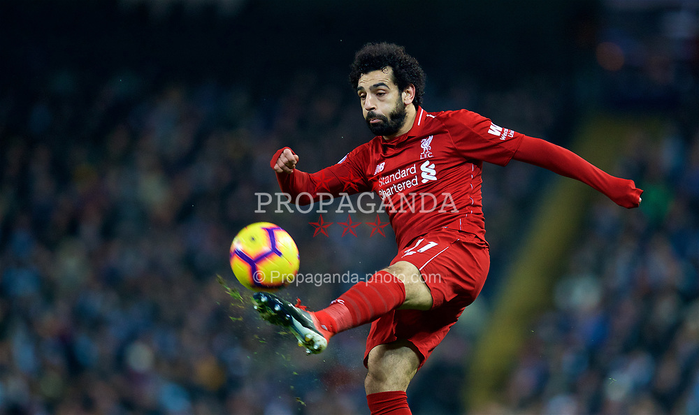 MANCHESTER, ENGLAND - Thursday, January 3, 2019: Liverpool's Mohamed Salah during the FA Premier League match between Manchester City FC and Liverpool FC at the Etihad Stadium. (Pic by David Rawcliffe/Propaganda)
