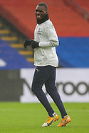 Crystal Palace forward Christian Benteke (20) warming up prior to the Premier League match between Crystal Palace and Wolverhampton Wanderers at Selhurst Park, London, England on 30 January 2021.
