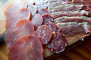 Charcuterie produced in-house at Wild Olive Restaurant  on Wadmalaw Island South Carolina is often sourced directly from local farmers.