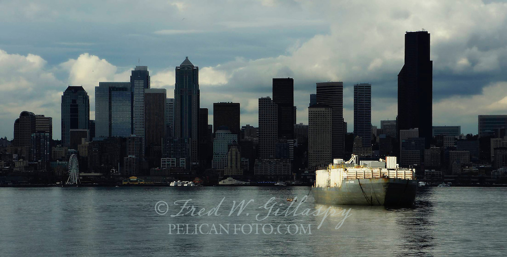 Seattle Skyline Across Puget Sound